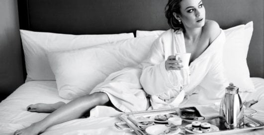 brie larson hot in black and white photo