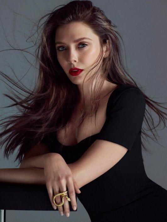 elizabeth olsen hot lokk for an photoshoot