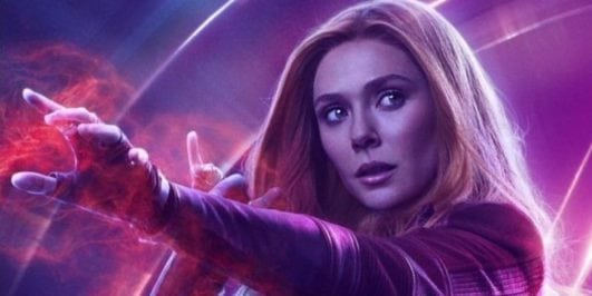 elizabeth olsen poster in avenger infinity war