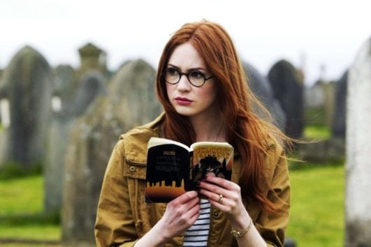 karen gillan hot looking in glasses