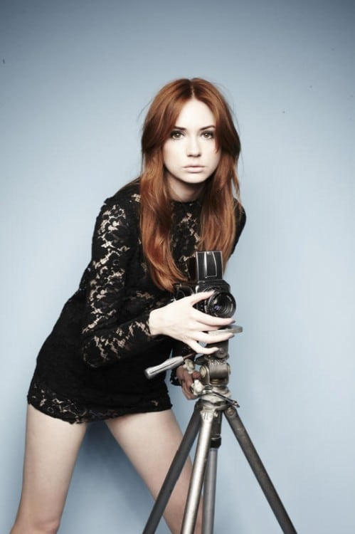 karen gillan hot pose for a magazine photoshoot
