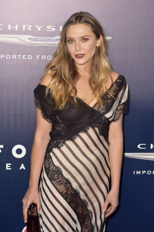 marvel movie star elizabeth olsen at an event
