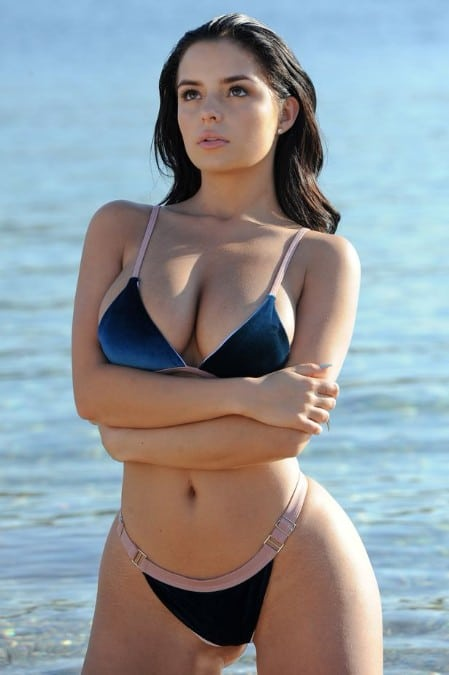 Demi Rose boobs in bikini