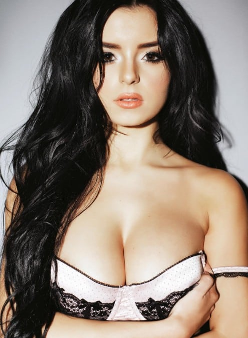 Demi Rose sexy bra