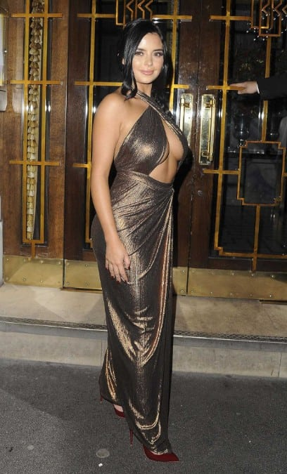 Demi Rose sexy dress at an event