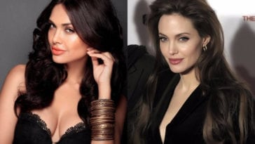 Esha Gupta and Angelina Jolie