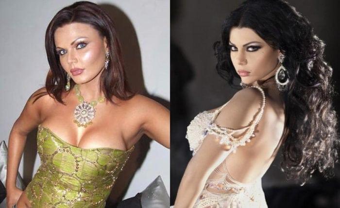 Haifa Wehbe and Rakhi Sawant