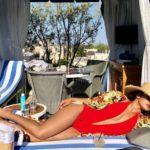 Priyanka Chopra photo in red hot sweatsuit bikini