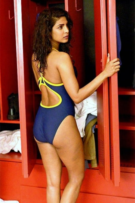 Priyanka Chopra posing in her swimsuit for a bold shoot