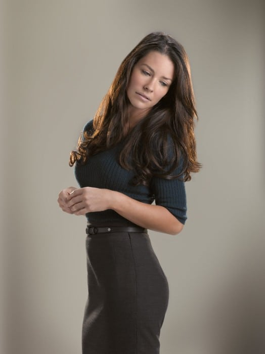 evangeline lilly hot in black