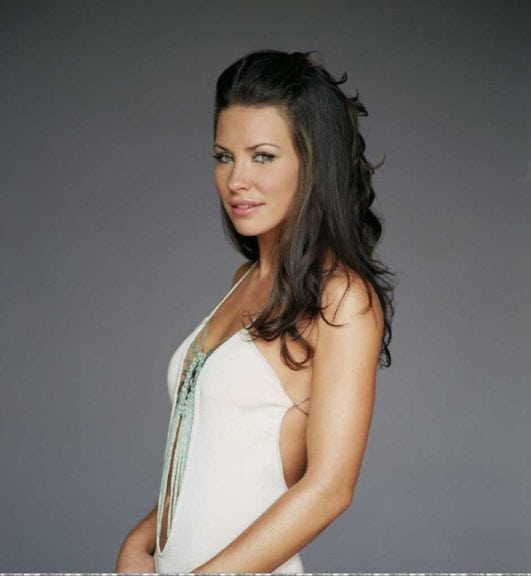 evangeline lilly hot in white dress
