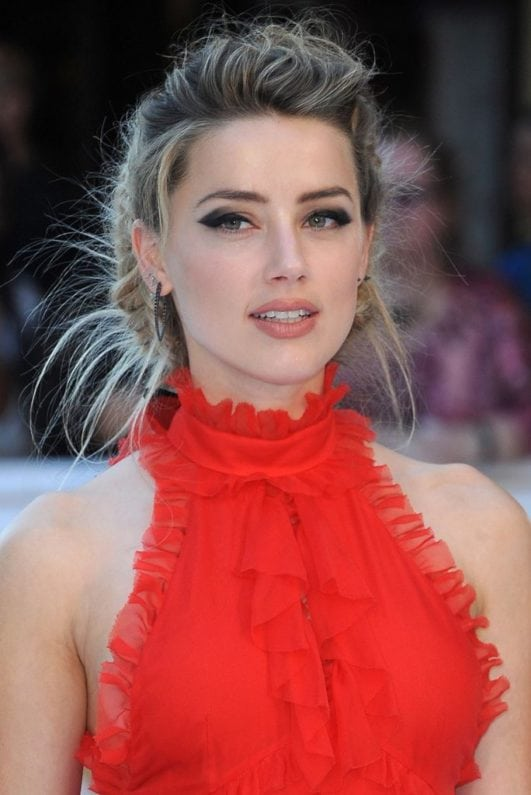 Amber Heard hot photo in red dress