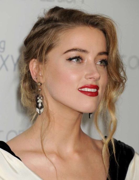 Aquaman movie actress Amber Heard hot look at event
