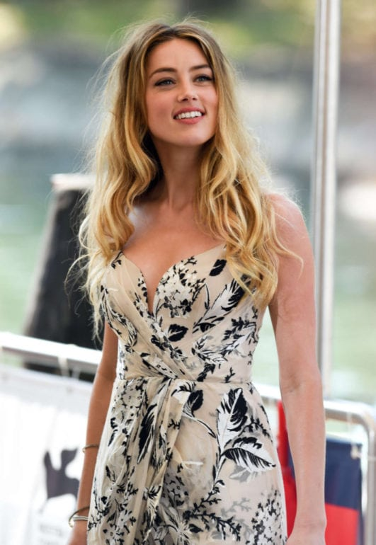 amber heard hot at event