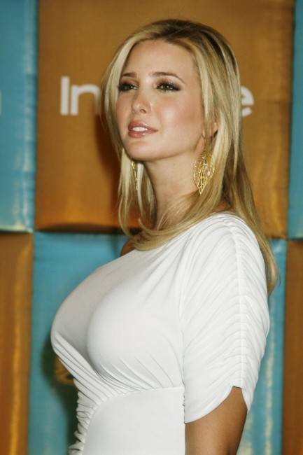 Ivanka Trump hot looking in white dress