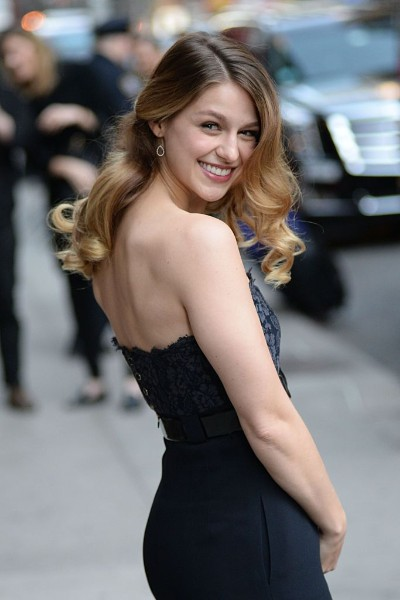 Melissa Benoist sexy backless picture