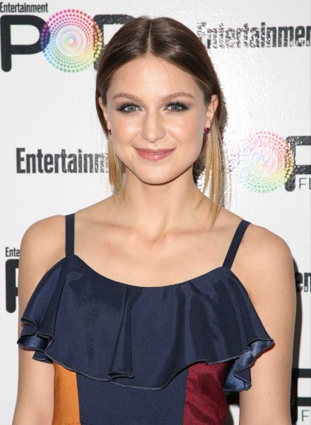 Melissa Benoist sexy looking at an event