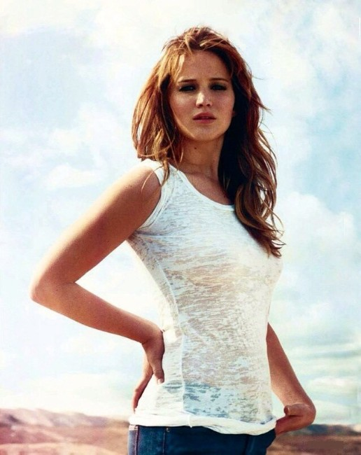 jennifer lawrence hot nude in white