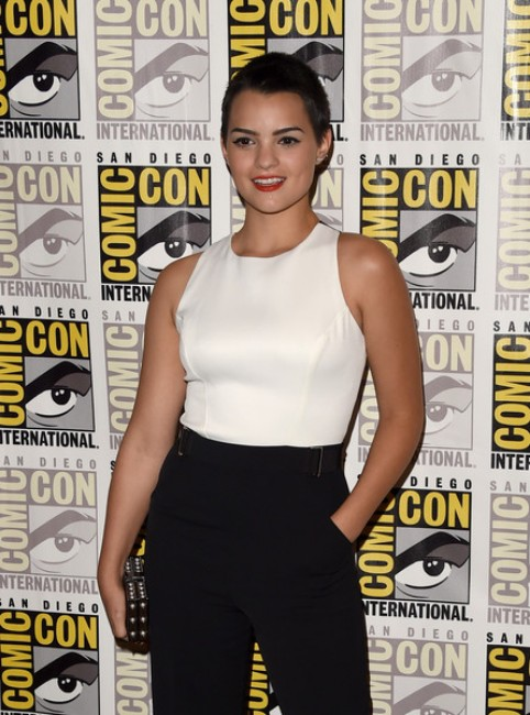 Brianna Hildebrand hot looking at an event
