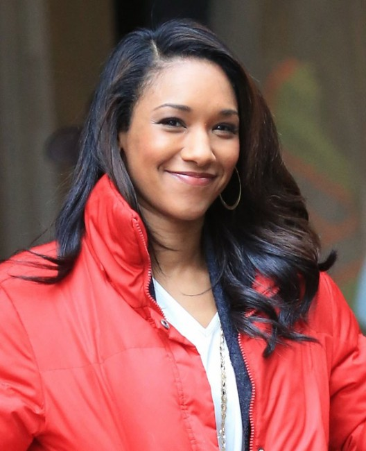 Candice Patton hot in red