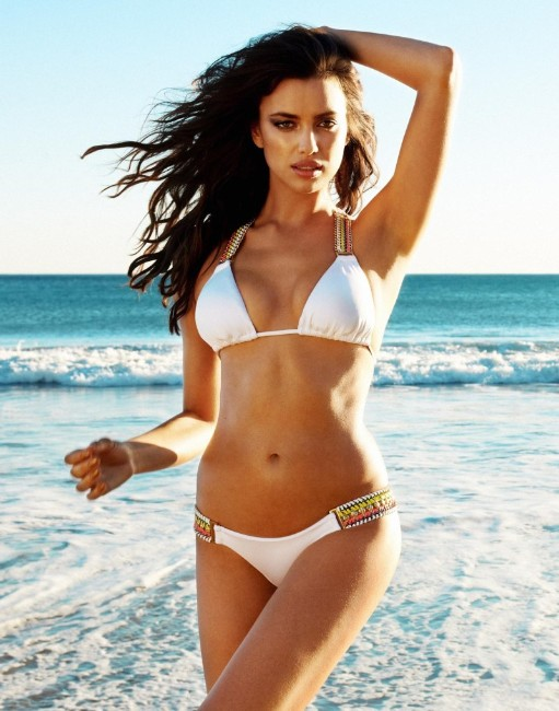 Cristiano Ronaldo ex gf Irina Shayk in wihte bikini