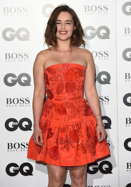 Emilia Clarke sexy looking at GQ Men Of The Year Awards