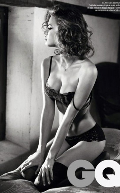 Irina Shayk sexy boobs show images from her gq photoshoot