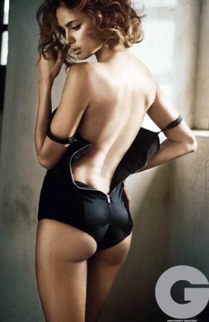 Irina Shayk topless nude photshoot for gq magazine
