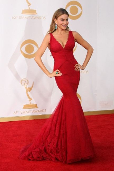 Sofia Vergara sexy looking in red gown