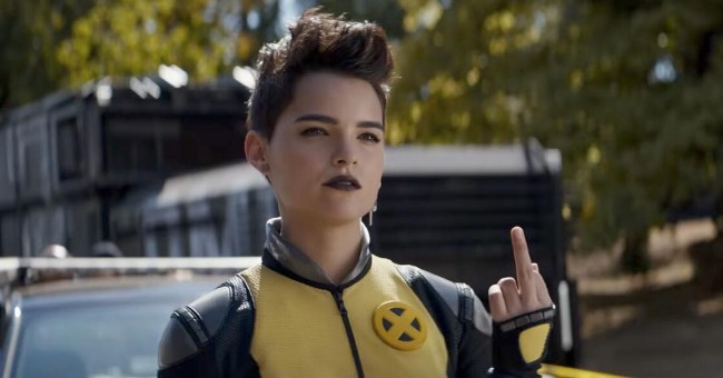 deadpool actress Brianna Hildebrand still from the movie