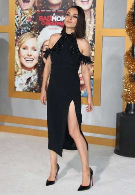 sexy mila kunis in black dress