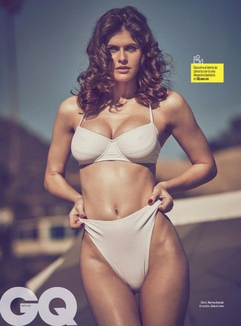 Alexandra Daddario bikini photoshoot for gq
