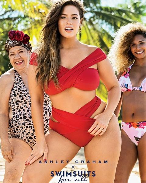 Ashley Graham hot red bikini image