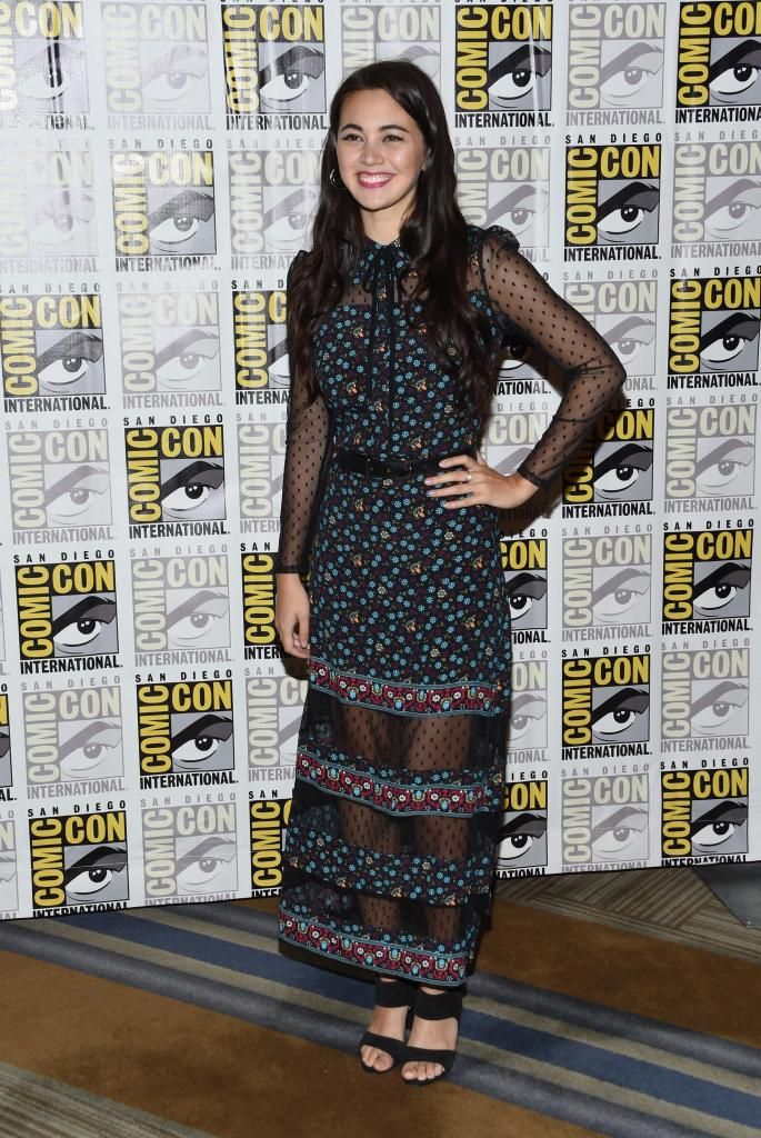 Jessica Henwick hot looking in black dress