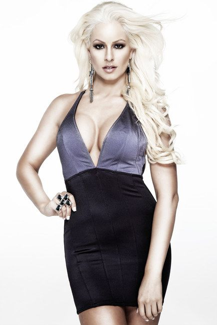 Maryse Ouellet hot in black dress