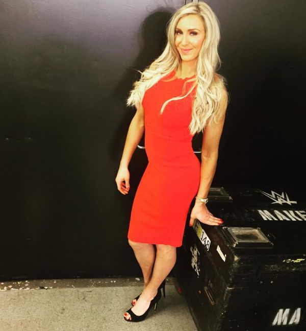 Maryse Ouellet sexy instagram phot in red dress