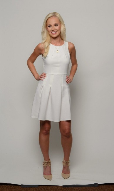 Tomi Lahren hot looking in white dress