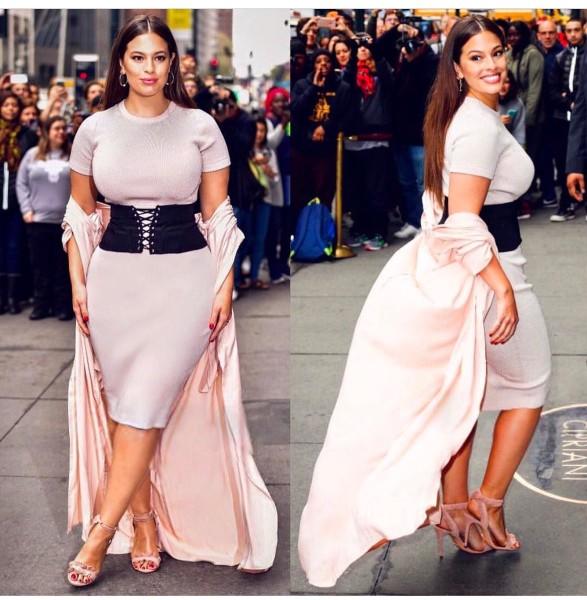 hot Ashley Graham white dress