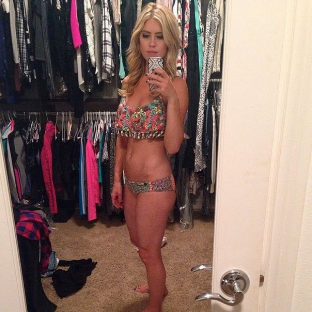 christina el moussa boobs show in bikini
