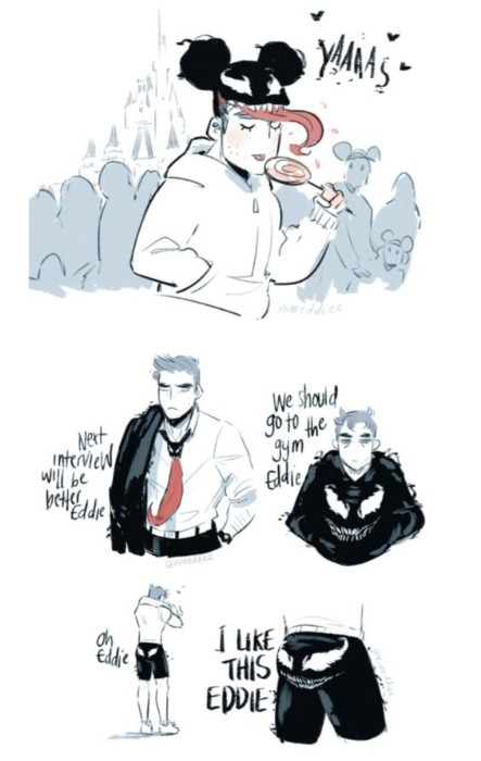 Venom and Eddie Brock's relationship, funny venom and eddy brock, eddy and venom love relation
