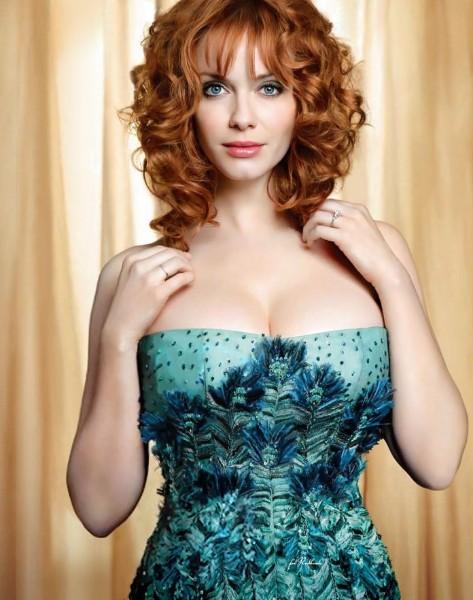 christina hendricks big boobs show image