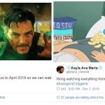 avengers endgame Trailer tweets