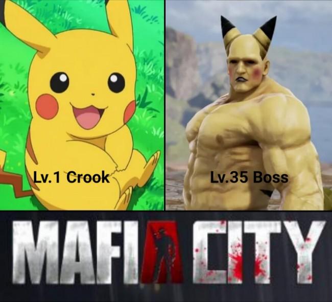 Level 1 Crook Level 30 Boss Memes, lv. 1 crook memes, mafia city memes, level 35 boss memes