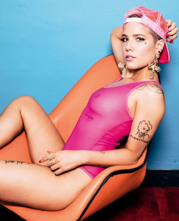 Halsey nude pics sexy bikini hot looking photos