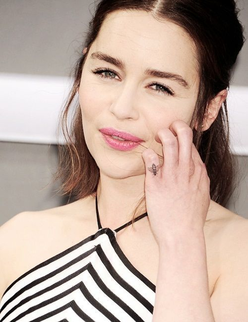 Emilia Clarke is the Best Celebrity Tattoos of all Time
