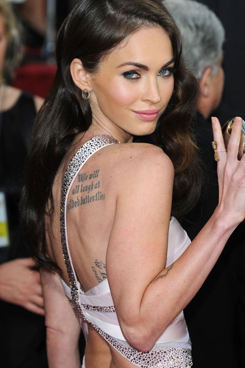 Megan Fox is the Best Celebrity Tattoos of all Time